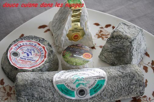 Sainte-Maure de Touraine sur poire et pain perdu