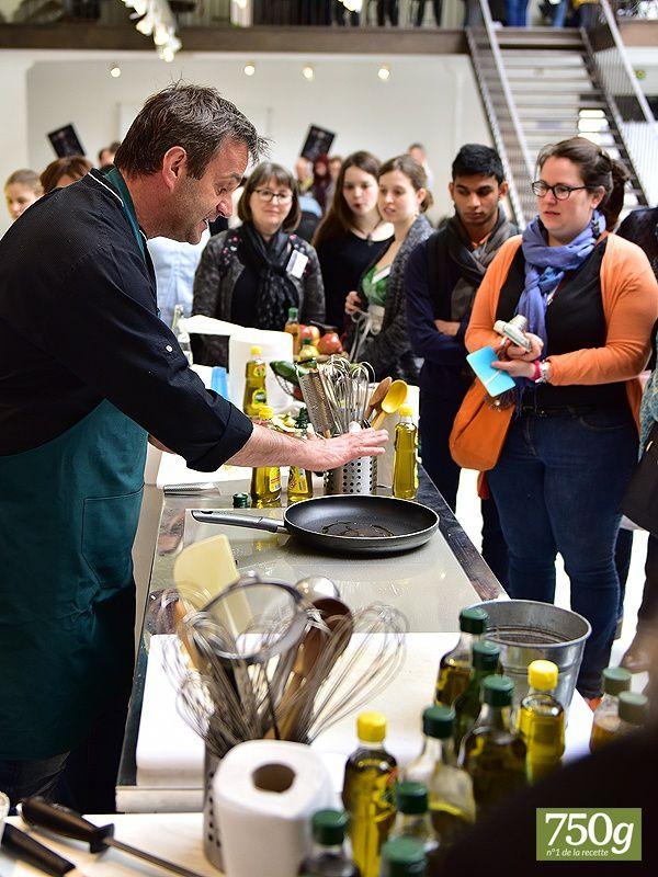 Huile puget avec Le chef Damien, travail du chocolat avec  le chef Régis, cuisson des légumes avec Chef Christophe