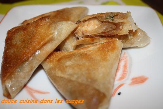 Samoussas oignons de Roscoff, crevettes aux parfums d'Asie