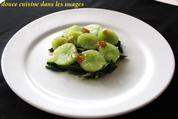 Celtuces en salade