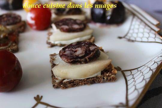 Ormeaux et tomate ou saucisse sèche de foie de porc et poire avec Crème de Saint Agur ...