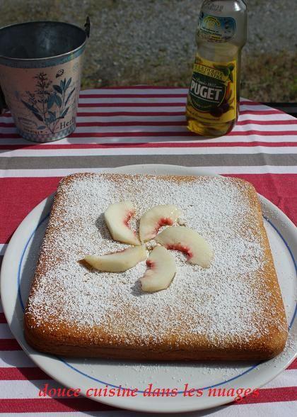 Gâteau polenta aux nectarines et Marsala