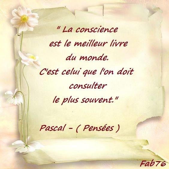 Citation de Blaise Pascal sur la conscience