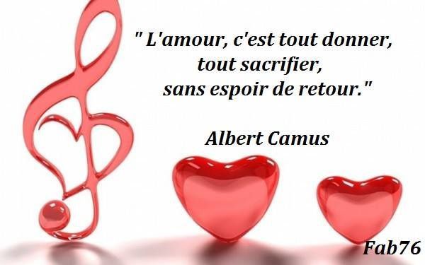 Citation d'Albert Camus sur l'amour