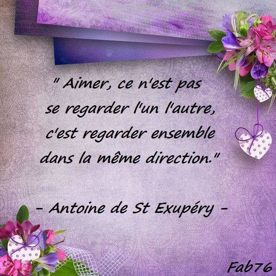 Citation de Saint-Exupéry sur l'amour