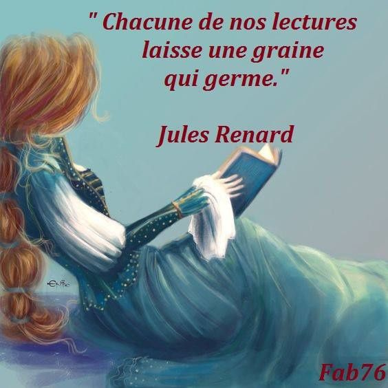 Citation de Jules Renard sur la lecture