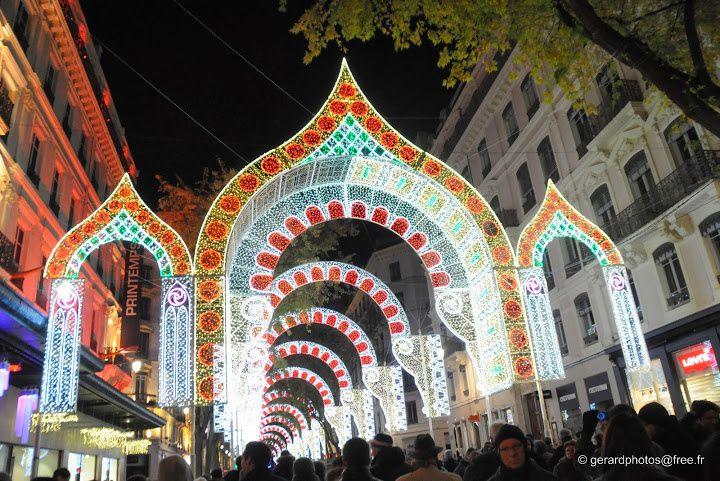 Fête des lumières 2013 Lyon rue de la République