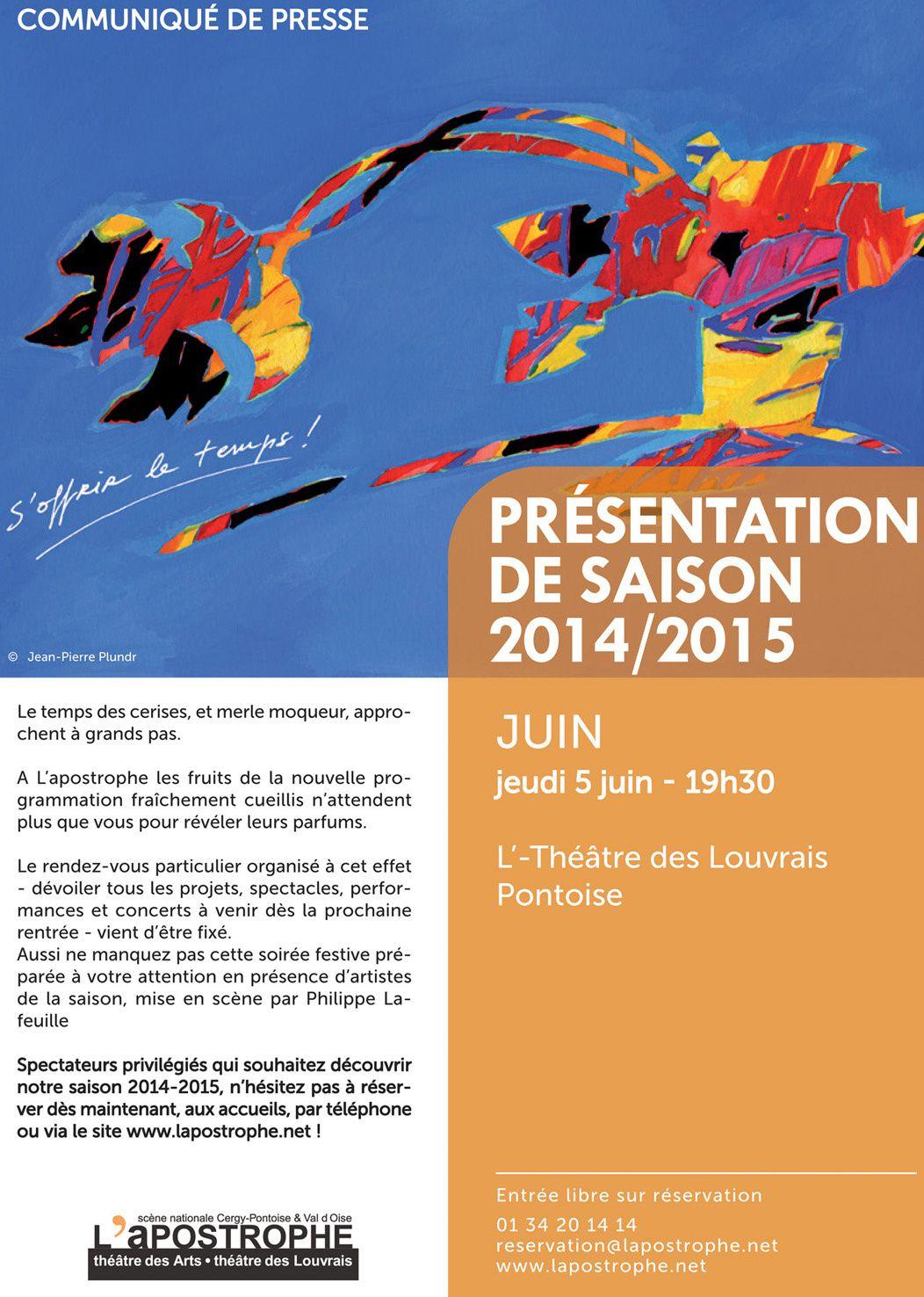 Lancement de la saison 2014/2015 du théâtre des Louvrais Pontoise