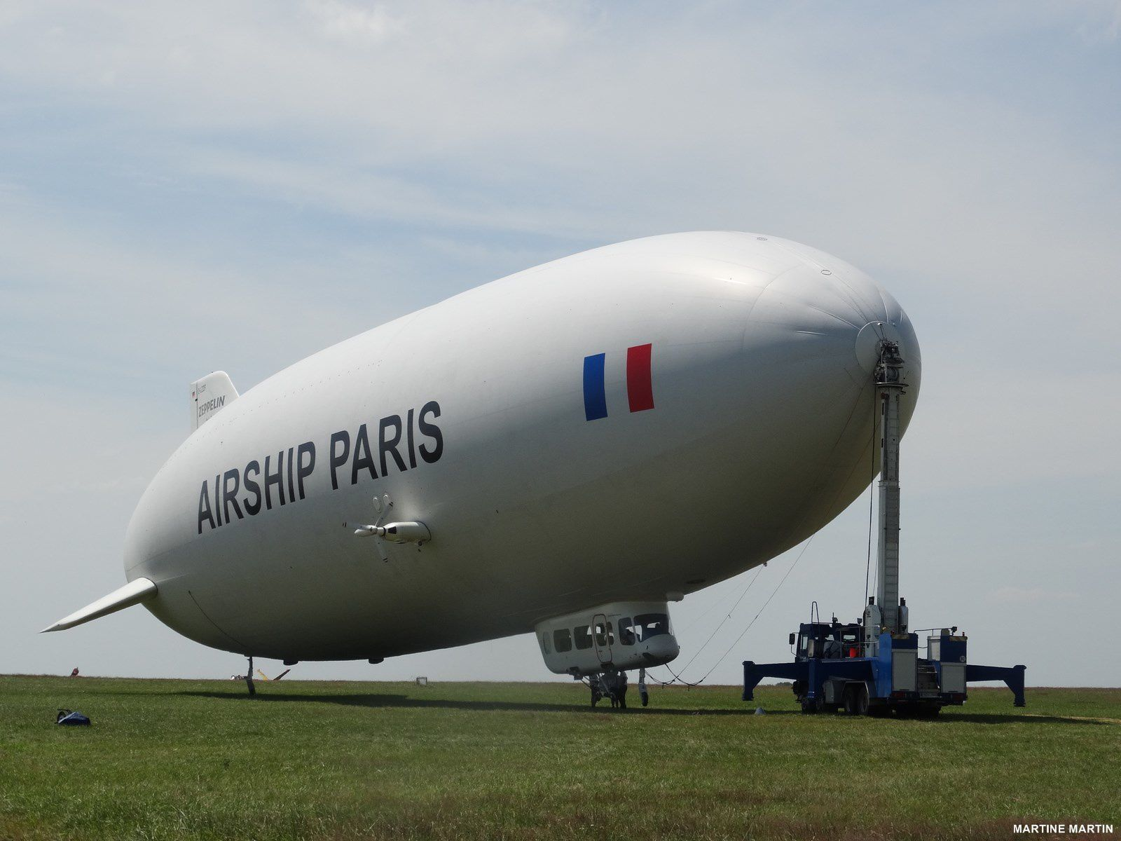Un vol en Zeppelin  au dessus de Cergy