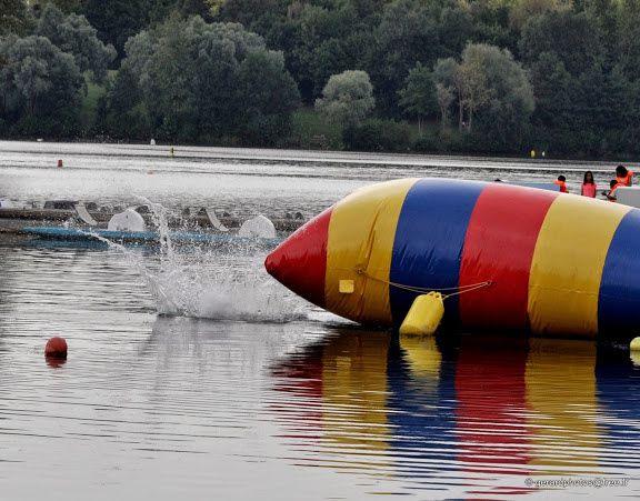 Blob jump à la base de loisirs de Cergy