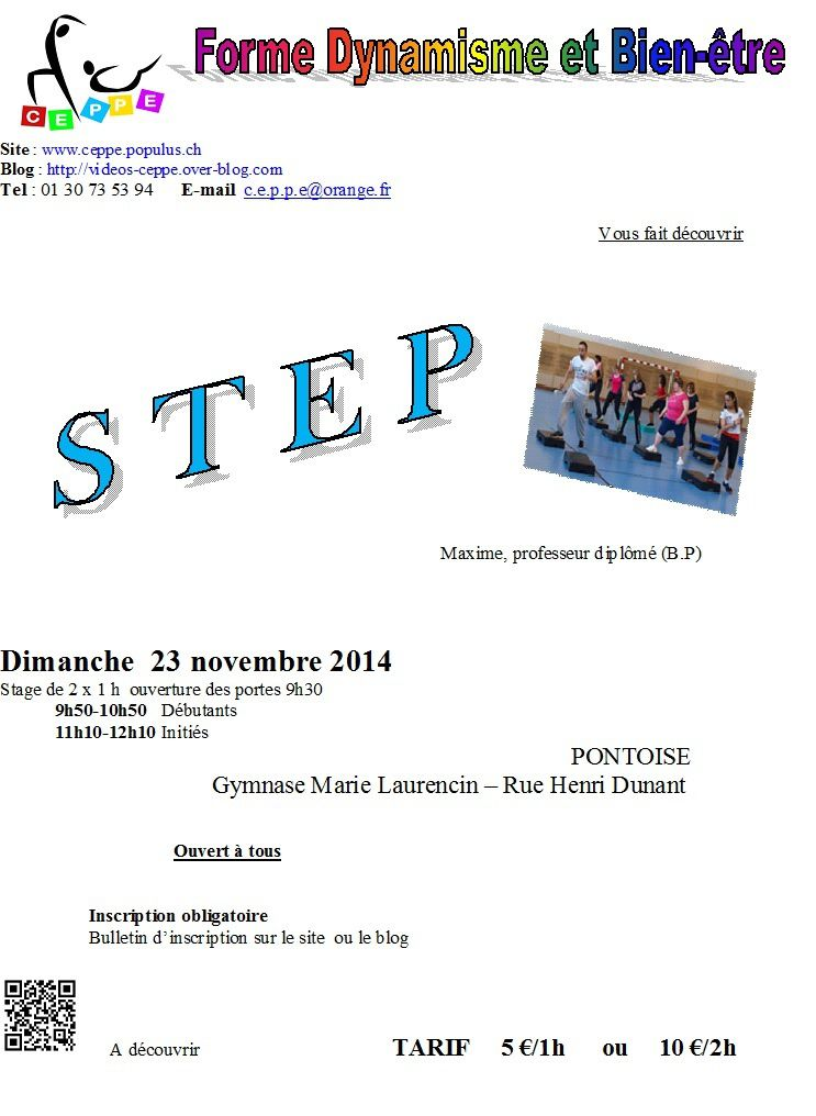 Stages CEPPE et danse africaine