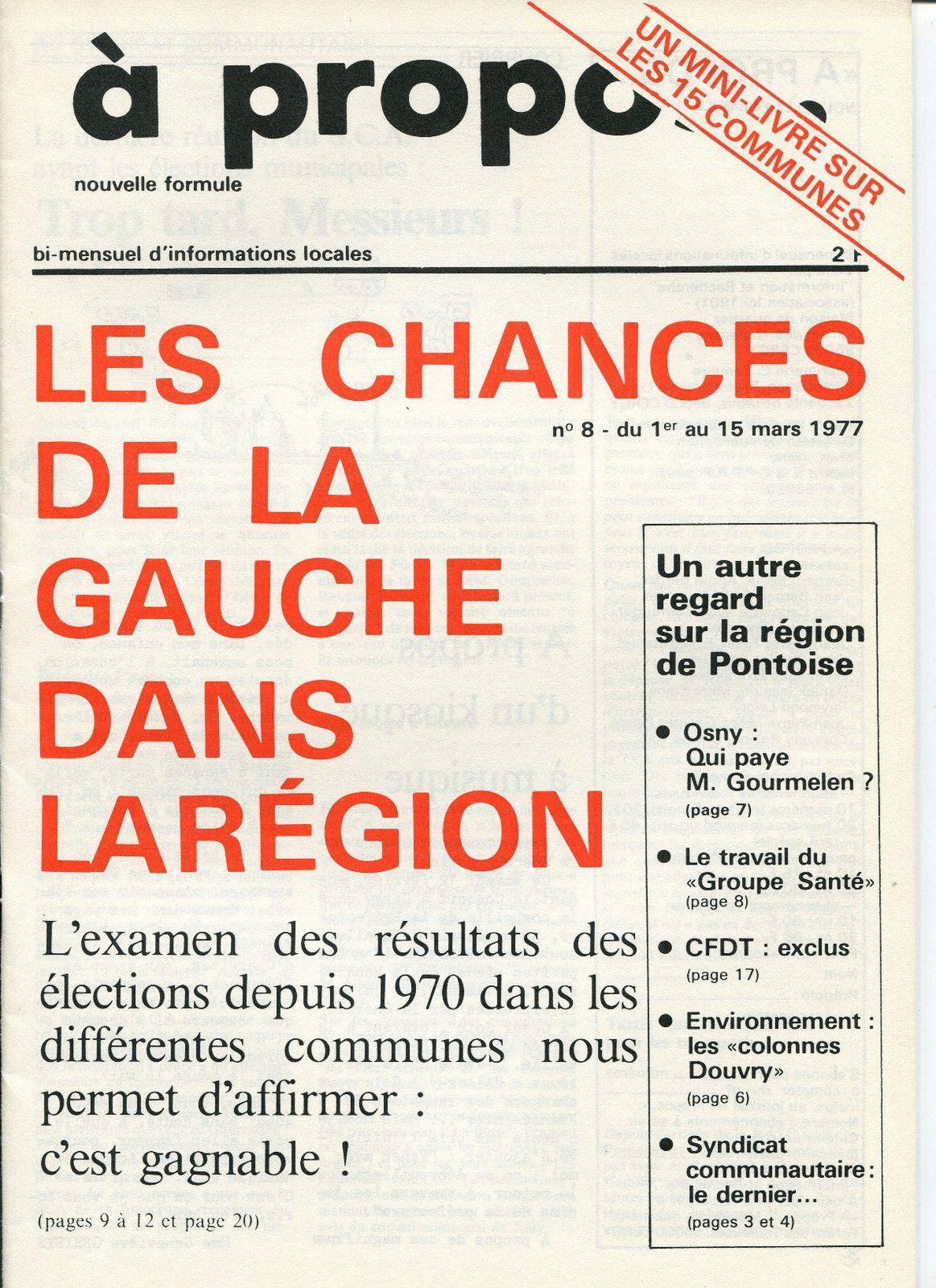 N° 18 de &quot&#x3B;à propos&quot&#x3B; de mars 1977