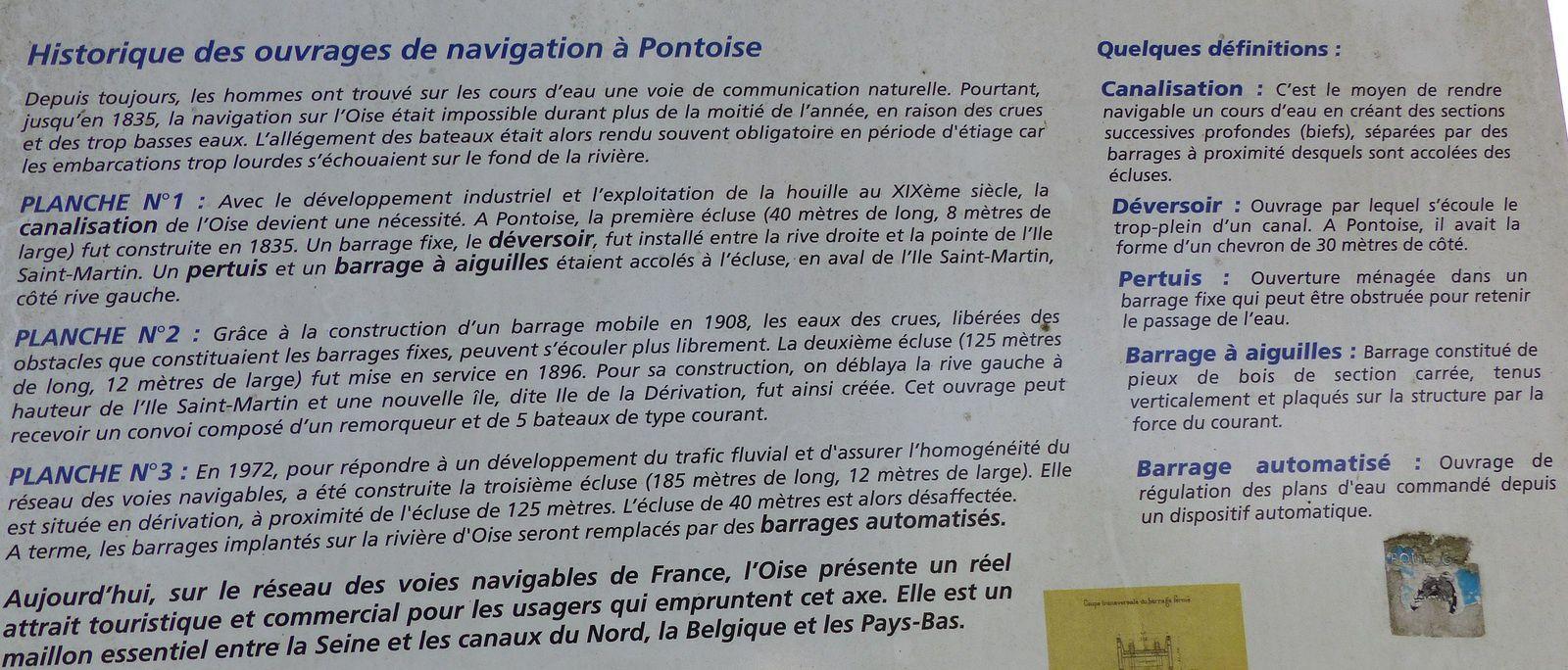 Historique des ouvrages de navigation à Pontoise