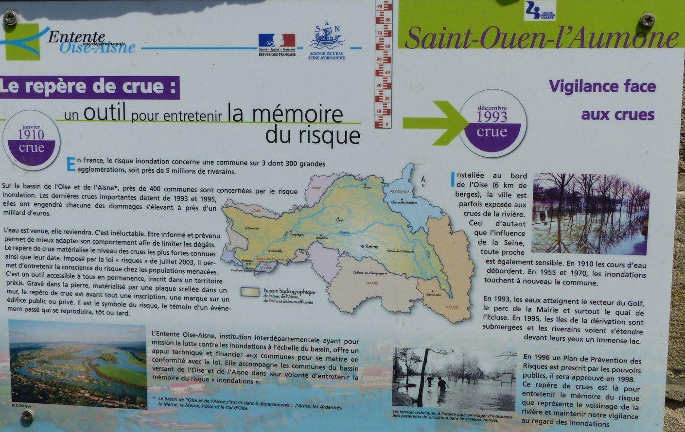 Les crues de l'Oise à Pontoise