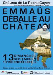 Emmaus déballe au château de la Roche Guyon