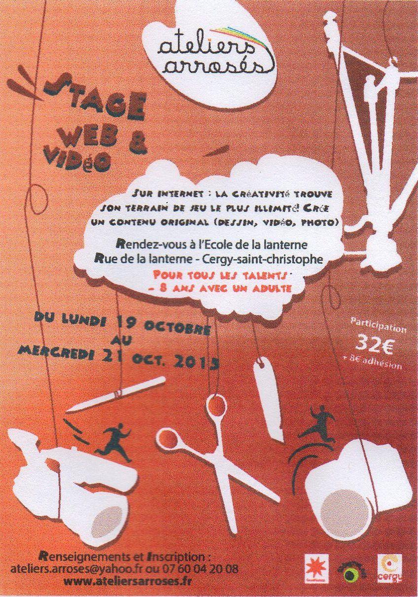 Stage Vidéo des ateliers arrosés Cergy