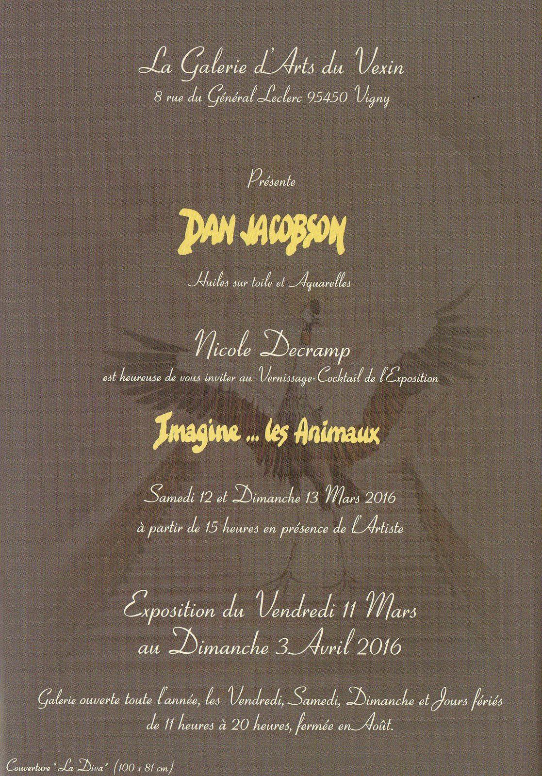Dan Jacobson expose à la galerie du Vexin à Vigny