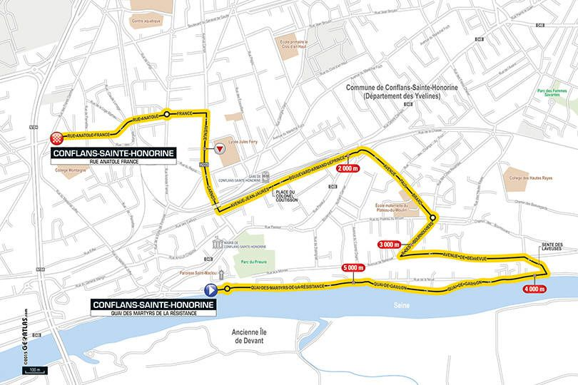 Prologue du Paris Nice à Conflans Sainte Honorine