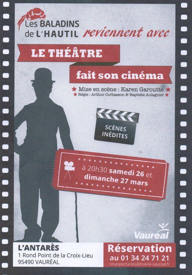 Le Théâtre fait son cinéma à l'Antares de Vauréal