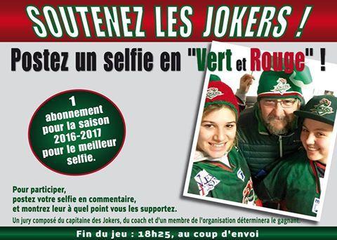 Soutenez les jokers de Cergy, postez un selfie