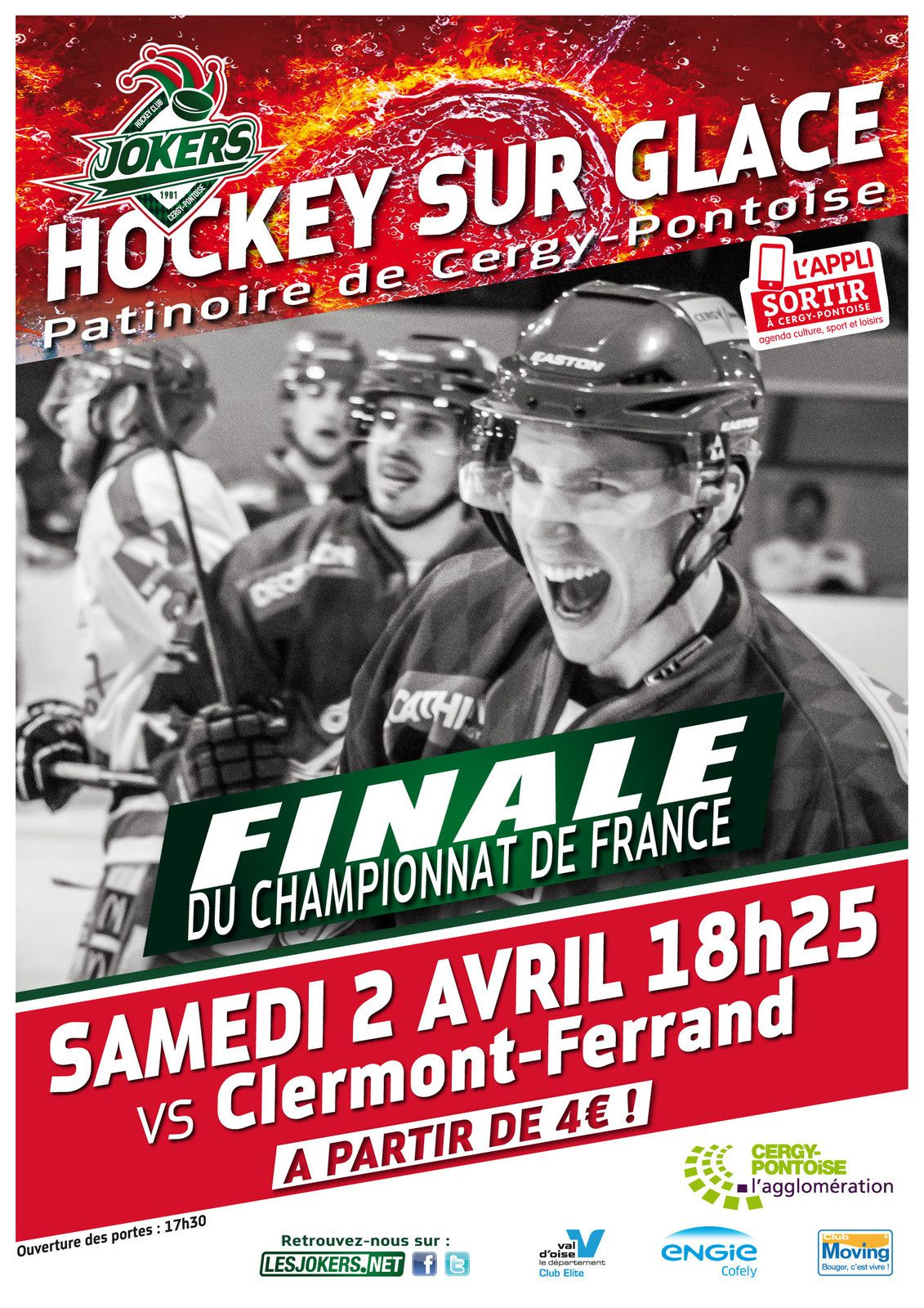 Cergy-Pontoise ou Clermont qui sera Champion de France de Hockey sur glace