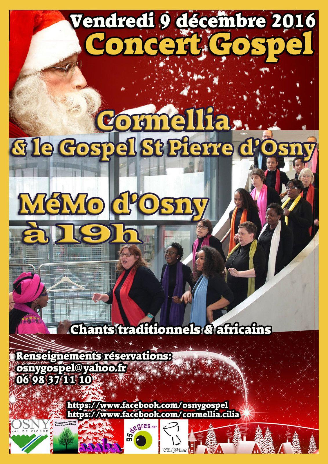 Concerts GOSPEL de Noël à Osny, Méruy et Chauvry