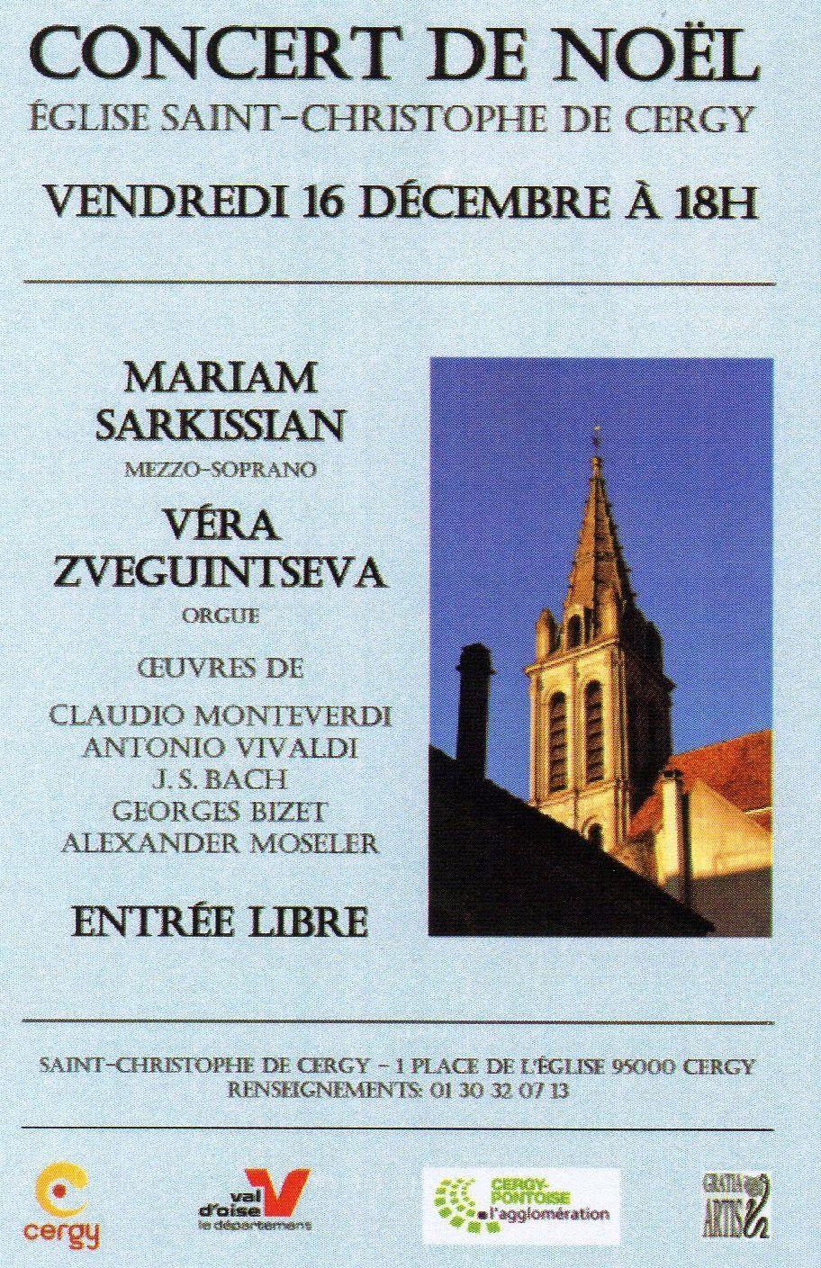 Concert de Noël à l'église Saint-Christophe de Cergy