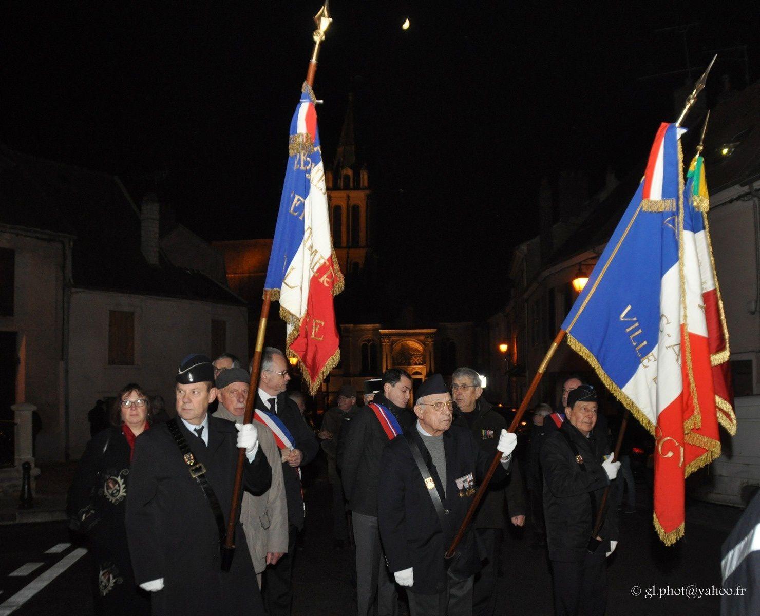 Commémoration d'hommage aux morts de la Guerre d'Algérie à Cergy
