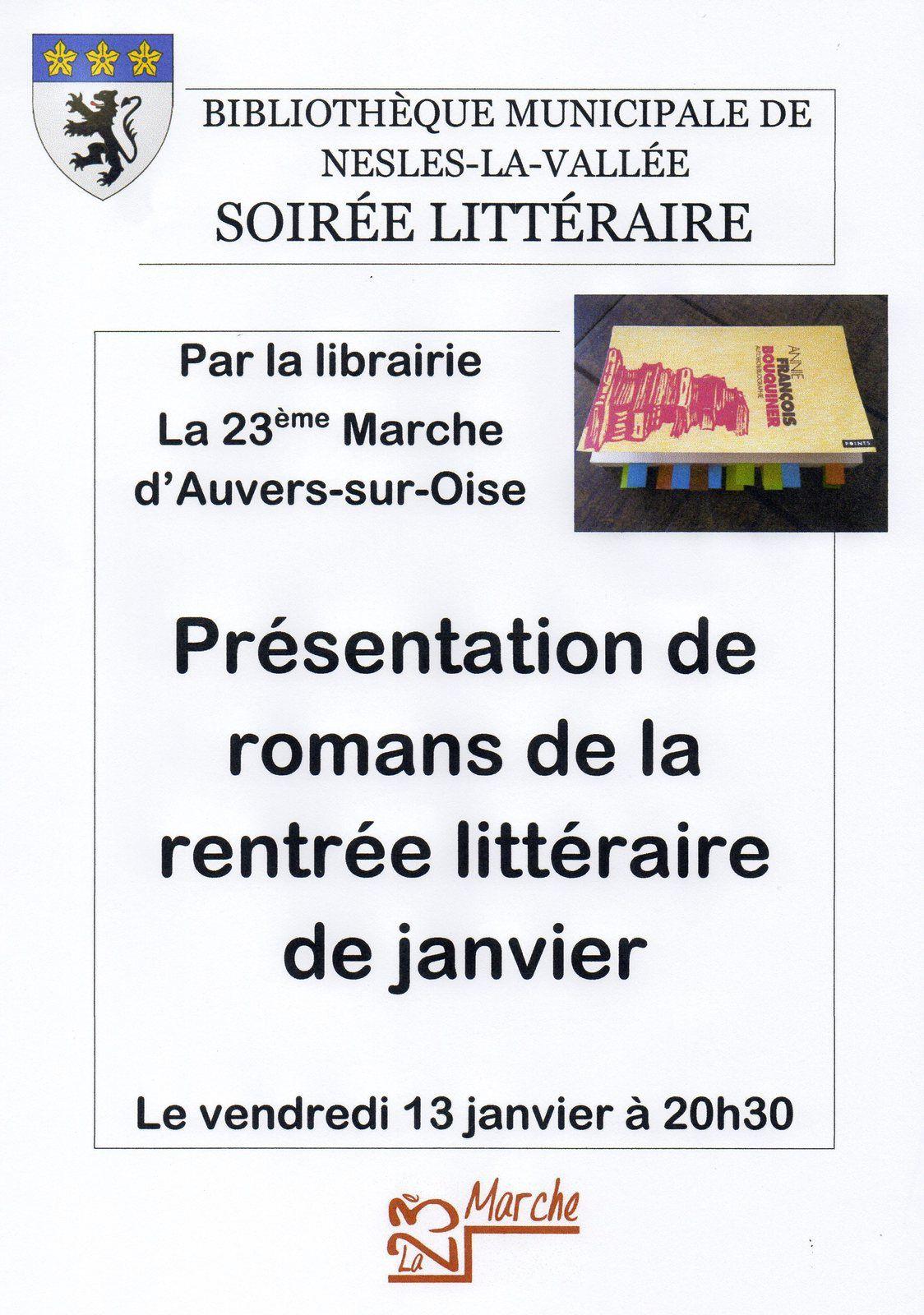 Présentation romans de la rentrée littéraire à Nesles la Vallée