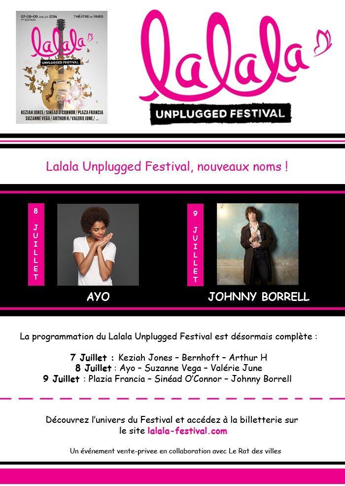 Lalala Unplugged Festival // Un évènement vente-privee / CHANSON / MUSIQUE