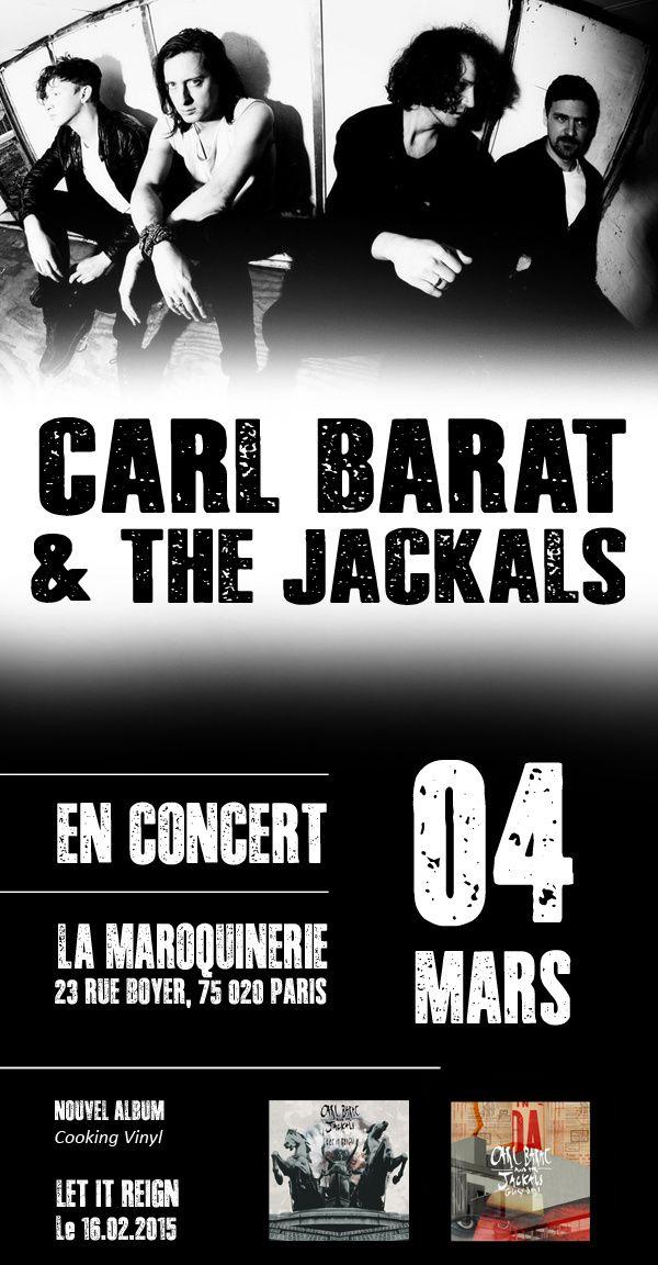 Carl Barat &amp&#x3B; The Jackals &gt&#x3B; En concert à la Maroquinerie! / CHANSON-MUSIQUE / ACTUALITES