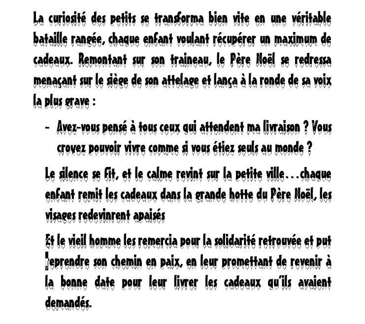 CONTE DE NOËL /  ECRIT PERSONNEL