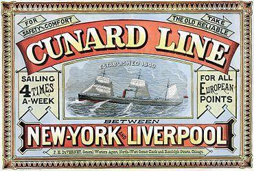 CUNARD LINE / COMPAGNIE MARITIME / HISTOIRE