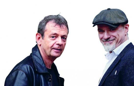 L'écrivain Pierre Lemaître (à gauche) et le dessinateur Christian De Metter ont travaillé à gommer les aspects les plus effrayants de l'œuvre originale tout en restant fidèles aux personnages. (LP/Philippe Lavieille.)