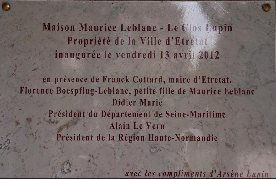 ETRETAT / TOURISME / NORMANDIE / MAURICE LEBLANC / ARSENE LUPIN