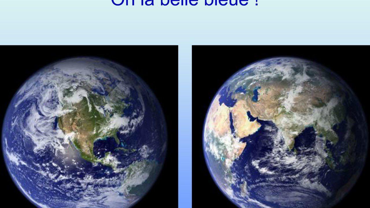 TERRE NUIT ET JOUR / belle planète