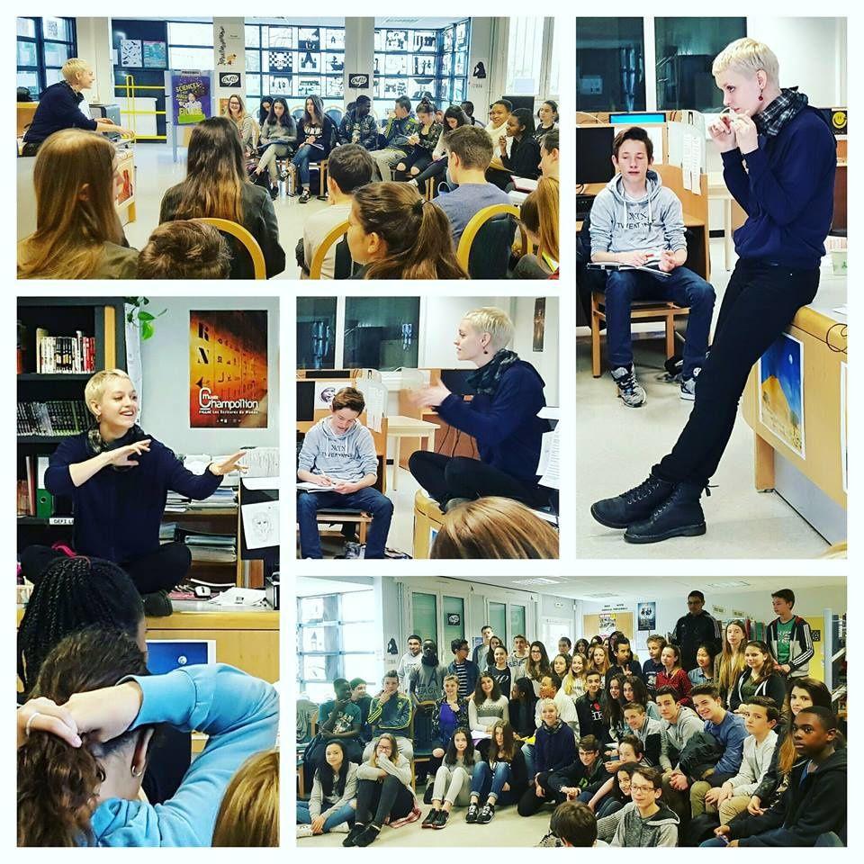 Une super matinée d'échange avec des collégiens d'Herblay qui ont lu Le suivant sur la liste dans le cadre du Prix du polar de Montigny ! �