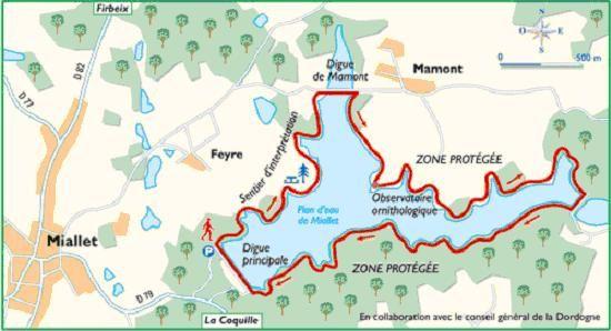 PLAN D'EAU DE MIALLET / RANDONNEE EN DORDOGNE / TOURISME