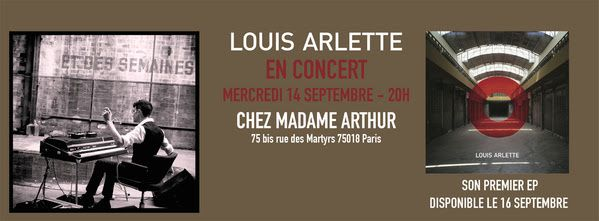 concert priv de louis arlette chez madame arthur le 14 09 20h chanson musique actualite. Black Bedroom Furniture Sets. Home Design Ideas