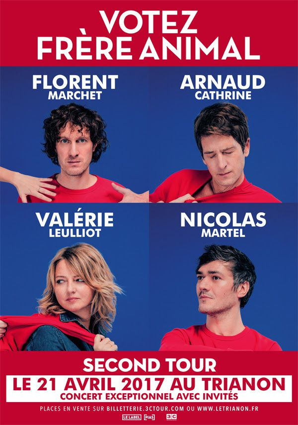 Frère Animal : Second Tour au Trianon (Florent Marchet, Arnaud Cathrine, Valérie Leulliot, Nicolas Martel)