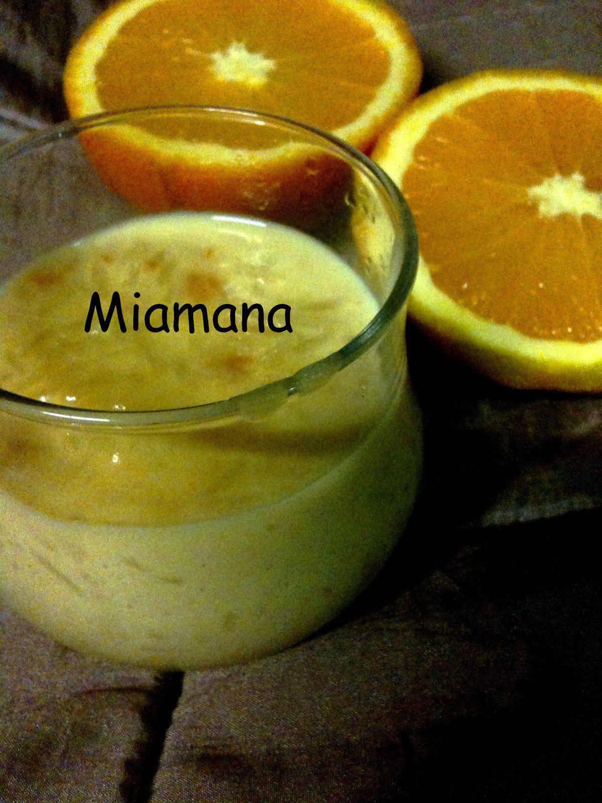 Riz au lait et zestes d'oranges