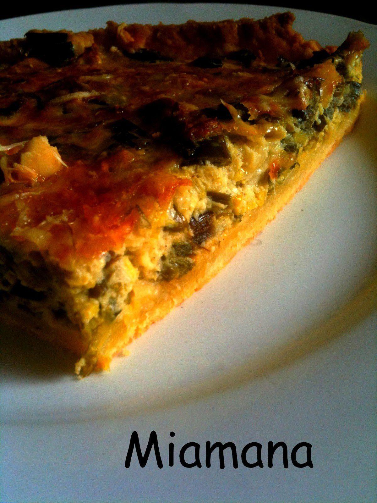Flamiche aux poireaux et trois fromages