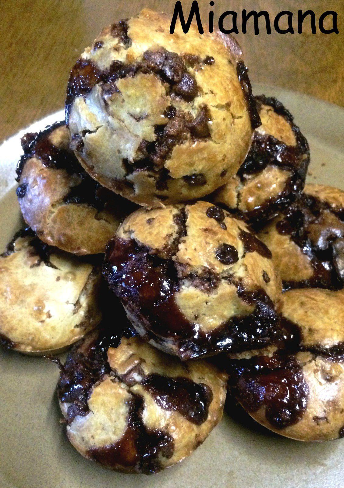 Muffins aux pépites coeur fondant