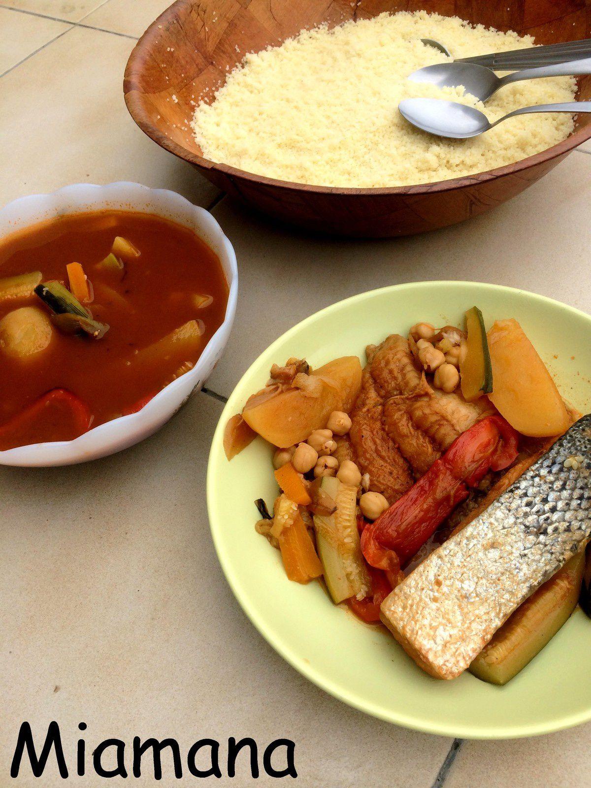 Couscous tunisien aux poissons