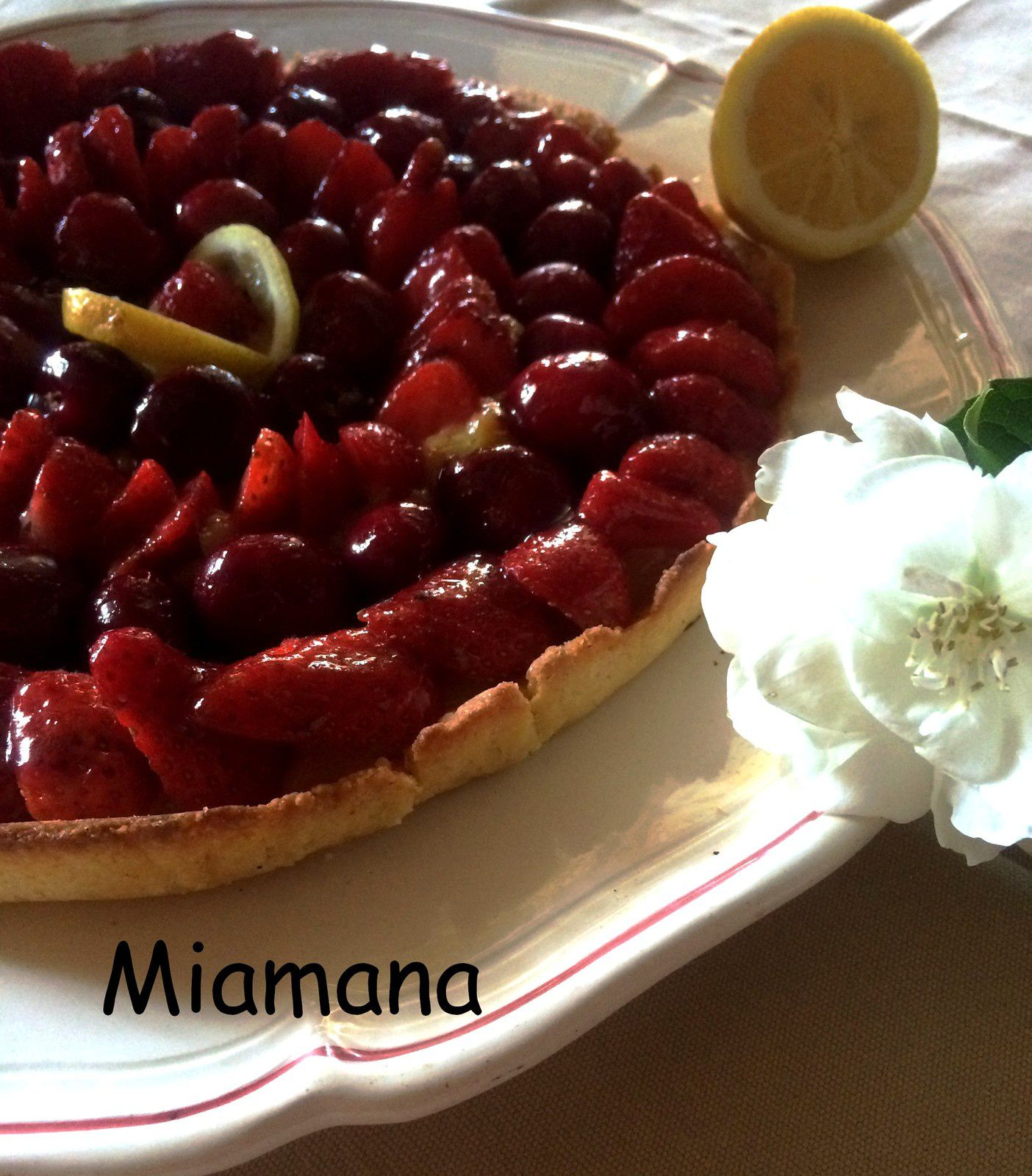 Tarte citron fruits rouges