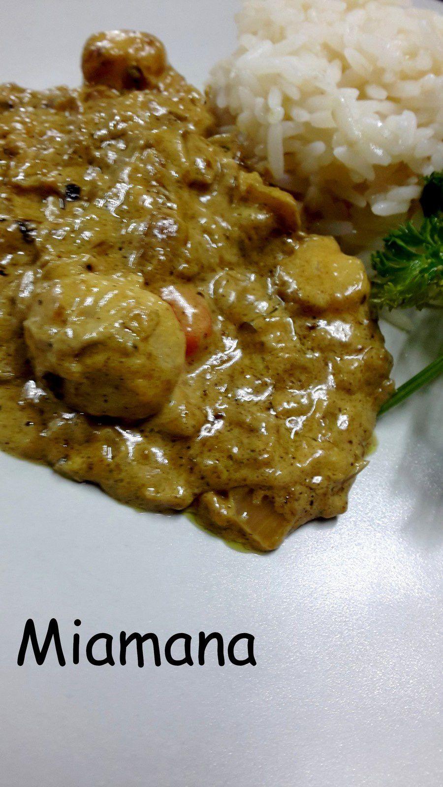 Noix de St Jacques curry et mascarpone