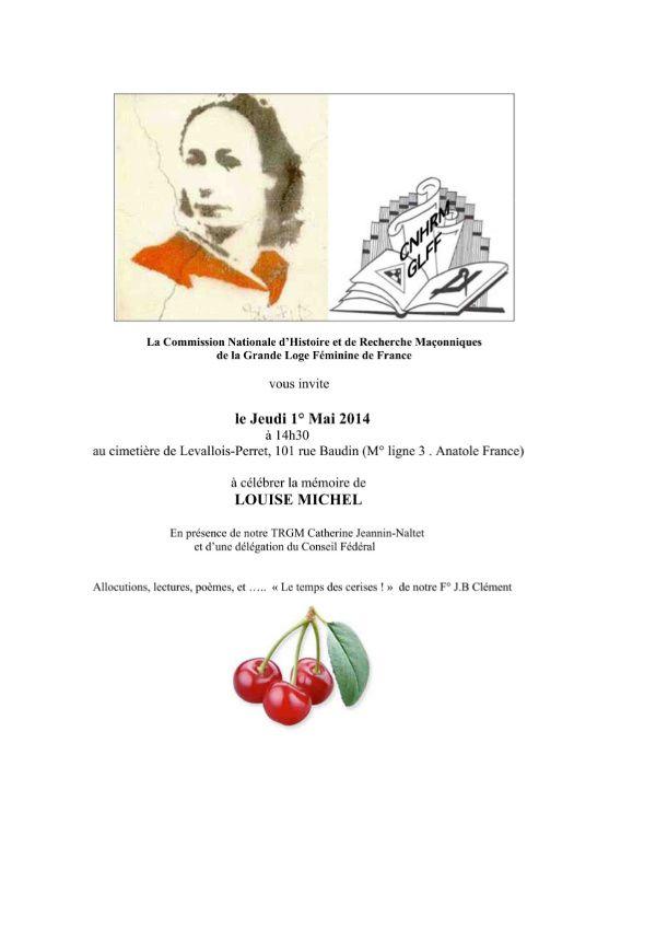 Hommage à Louise Michel par la Grande Loge Féminine de France
