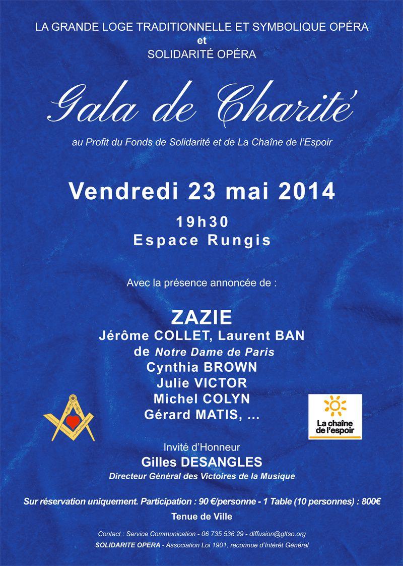 GLTSO : Gala de Charité 2014 le 23 mai.