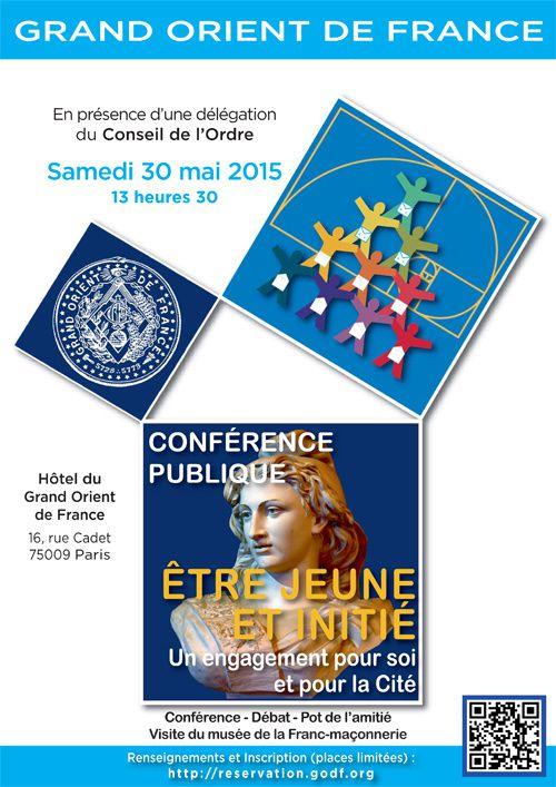 GODF : « Etre jeune et initié », le 30 mai 2015 à Paris.