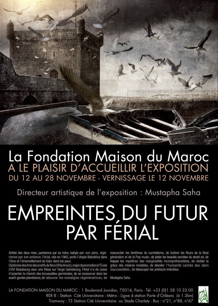 Expo f rial la fondation maison du maroc paris du 12 for La maison du placard paris